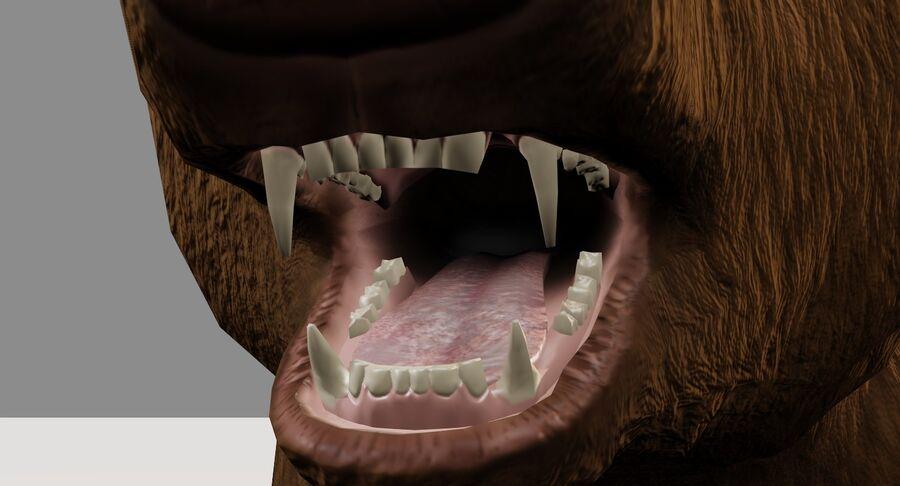 게임 준비가 된 곰 royalty-free 3d model - Preview no. 9