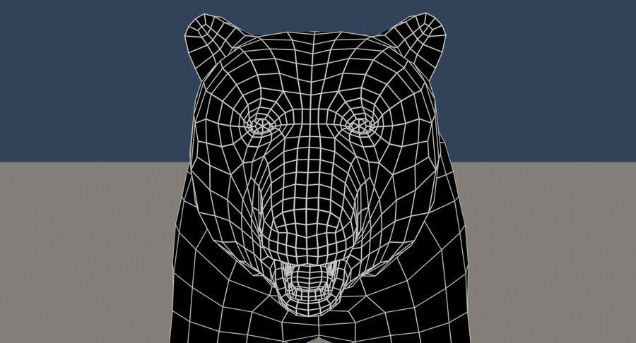 게임 준비가 된 곰 royalty-free 3d model - Preview no. 17