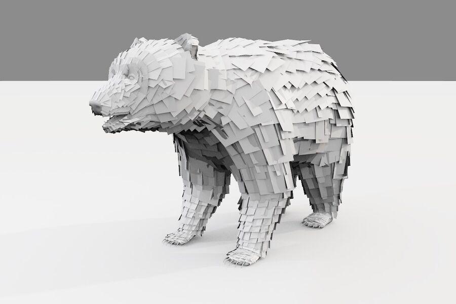 게임 준비가 된 곰 royalty-free 3d model - Preview no. 23
