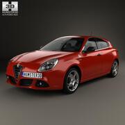 阿尔法·罗密欧(Alfa Romeo)Giulietta Quadrifoglio Verde 2014 3d model