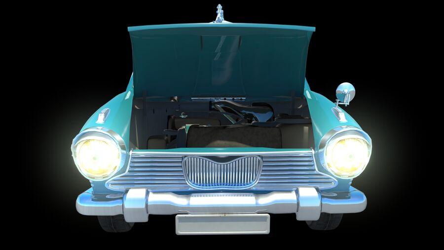 car austin cambridge 1970 royalty-free 3d model - Preview no. 4