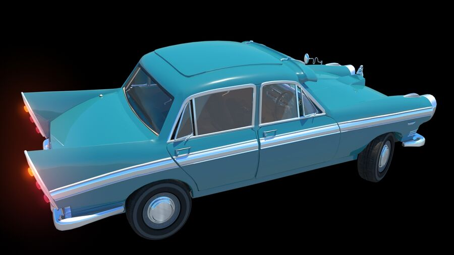 car austin cambridge 1970 royalty-free 3d model - Preview no. 8