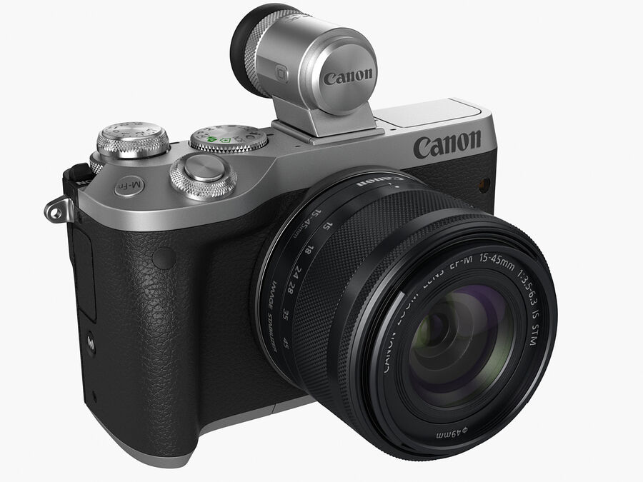 Canon EOS M6 royalty-free 3d model - Preview no. 1