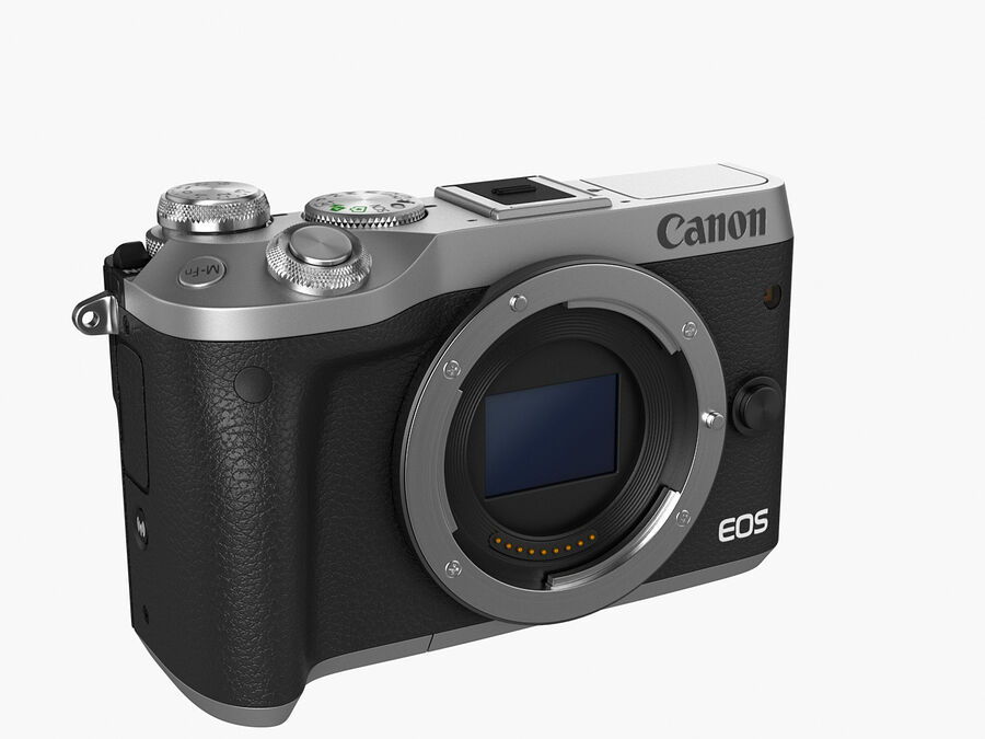 Canon EOS M6 royalty-free 3d model - Preview no. 2