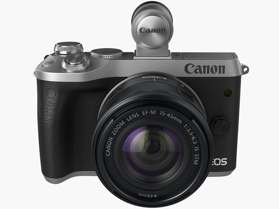 Canon EOS M6 royalty-free 3d model - Preview no. 3