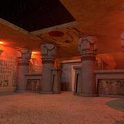 Noite do Templo Egípcio 3d model