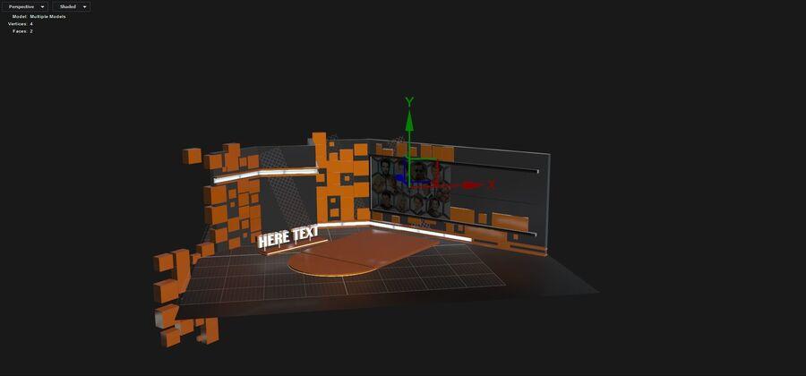 SPORT NIGHT STUDIO royalty-free 3d model - Preview no. 5