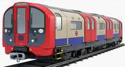 London Subway Train 2009 Lager 3d model