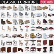 Collection de meubles classiques 3d model