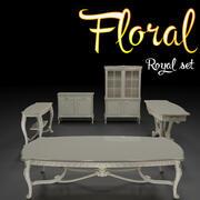 Floral koninklijke set 3d model
