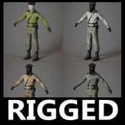 3D-Modellpaket des Terroristen-Separatisten 3d model