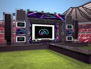 stadium live stage 3d model