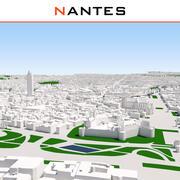 ナント都市景観の完成 3d model