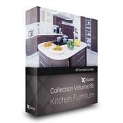 CGAxis Models Volume 86 Kitchen Furniture 3d model
