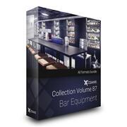 CGAxis Models Volume 87 Bar Equipment 3d model