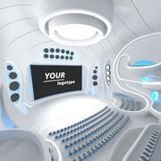 Sci-fi Futuristic Hall 3d model