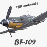 Materiali PBR da combattimento tedesco BF-109 3d model