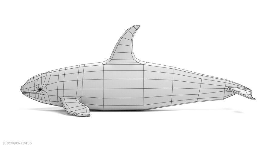 Ballena asesina (aparejada) royalty-free modelo 3d - Preview no. 11