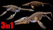 Extinct Aquatic Reptiles 3d model