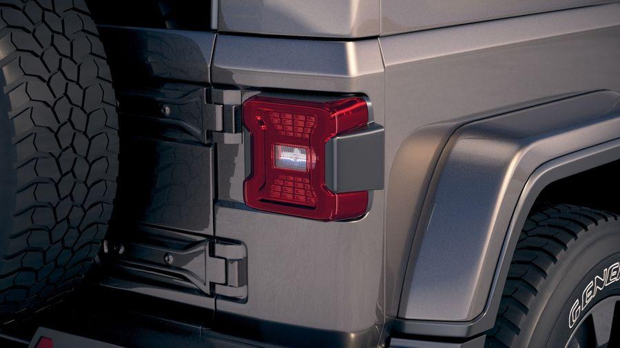 Джип Рэнглер Неограниченная Сахара 2018 royalty-free 3d model - Preview no. 17