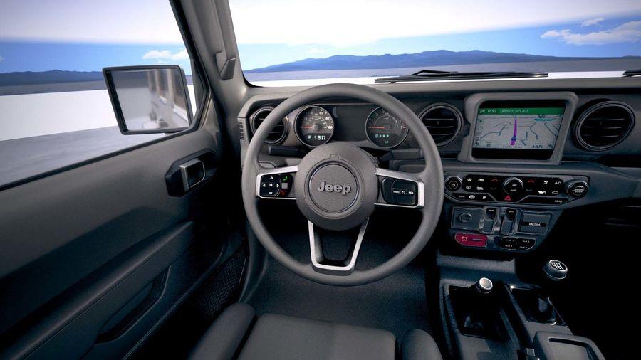 Джип Рэнглер Неограниченная Сахара 2018 royalty-free 3d model - Preview no. 21