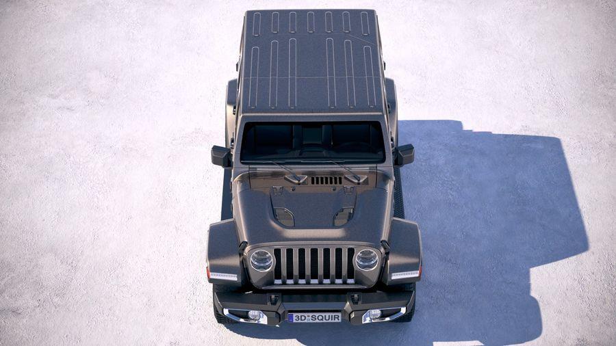 Джип Рэнглер Неограниченная Сахара 2018 royalty-free 3d model - Preview no. 9