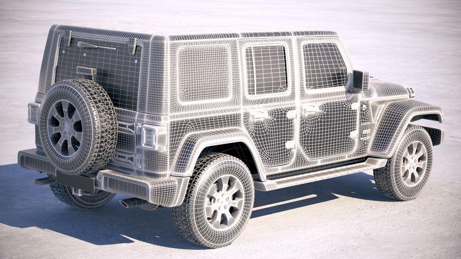Джип Рэнглер Неограниченная Сахара 2018 royalty-free 3d model - Preview no. 23