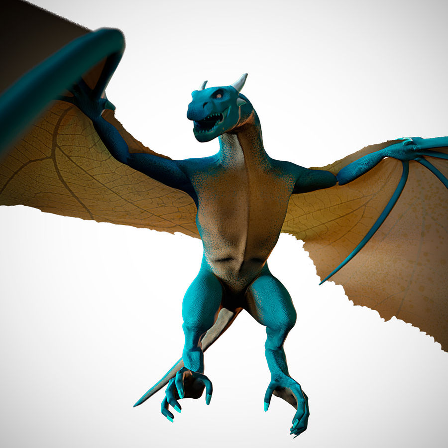 Wyvern royalty-free 3d model - Preview no. 1