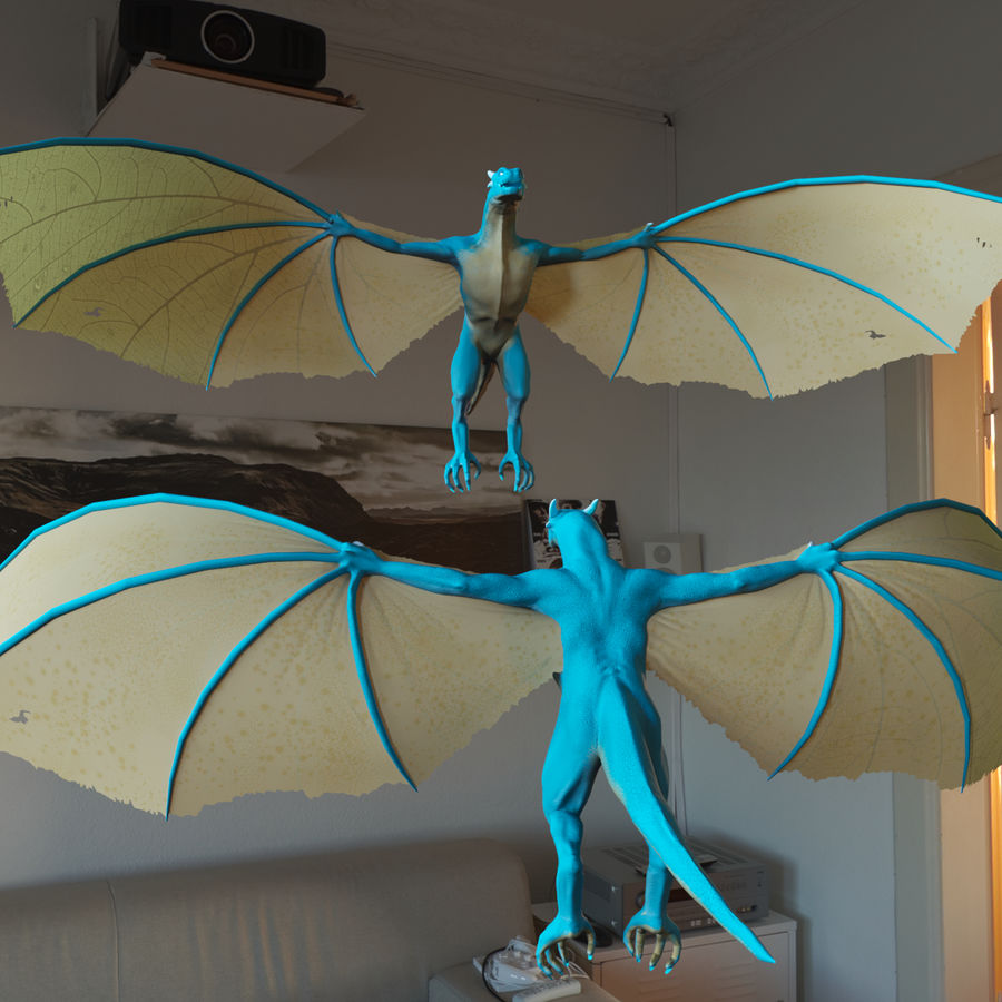Wyvern royalty-free 3d model - Preview no. 5