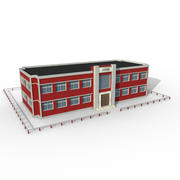 Cartoon High School 3d model