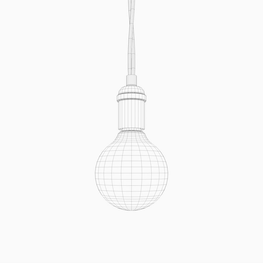Lampadina vintage C4D royalty-free 3d model - Preview no. 3
