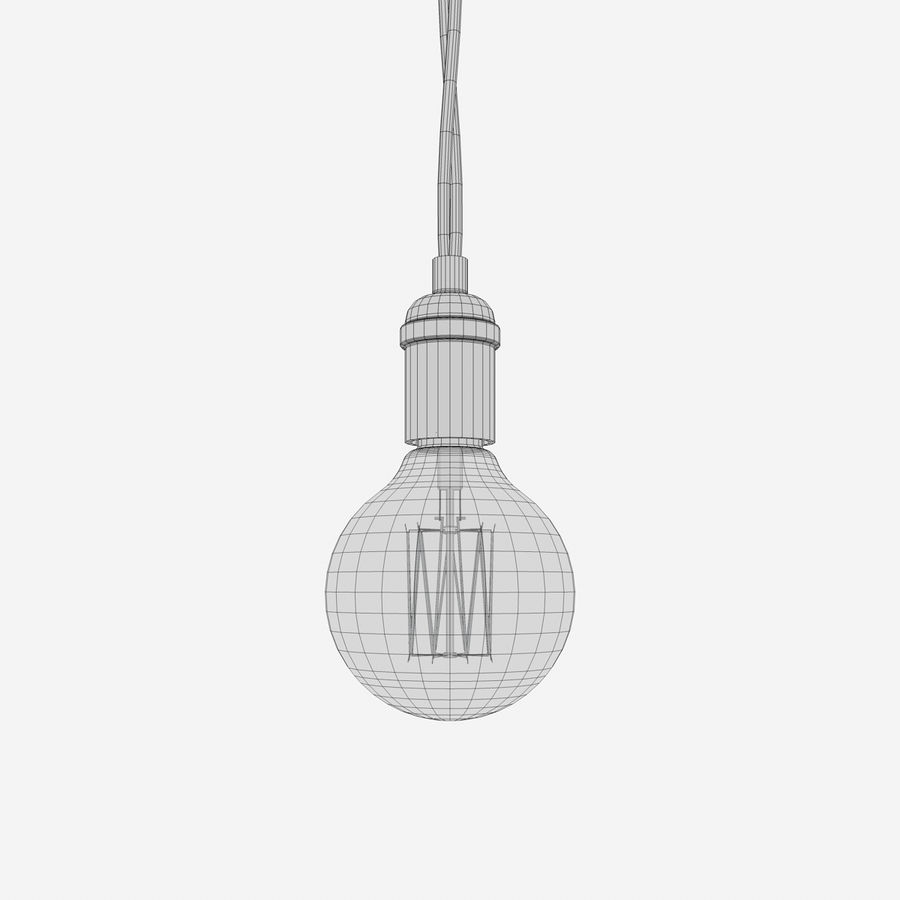 Lampadina vintage C4D royalty-free 3d model - Preview no. 5