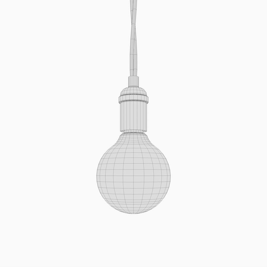 Lampadina vintage C4D royalty-free 3d model - Preview no. 4