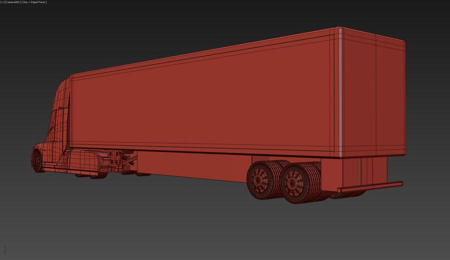 Tesla Semi Truck royalty-free 3d model - Preview no. 15