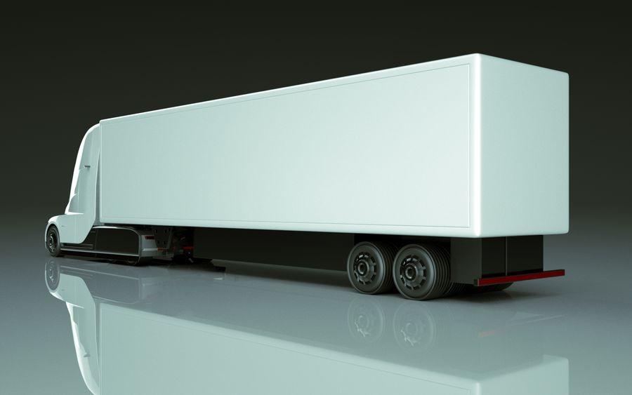 Tesla Semi Truck royalty-free 3d model - Preview no. 6