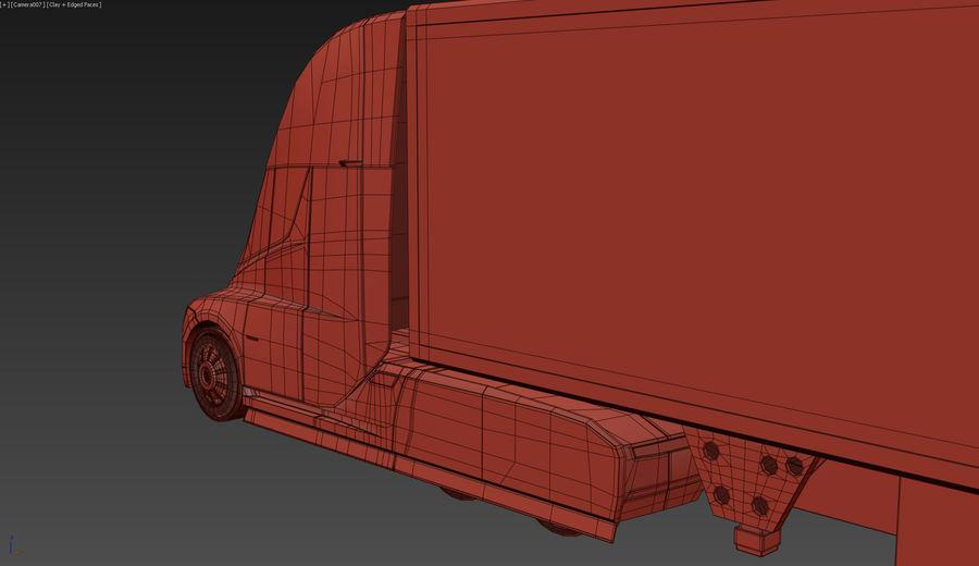 Tesla Semi Truck royalty-free 3d model - Preview no. 16