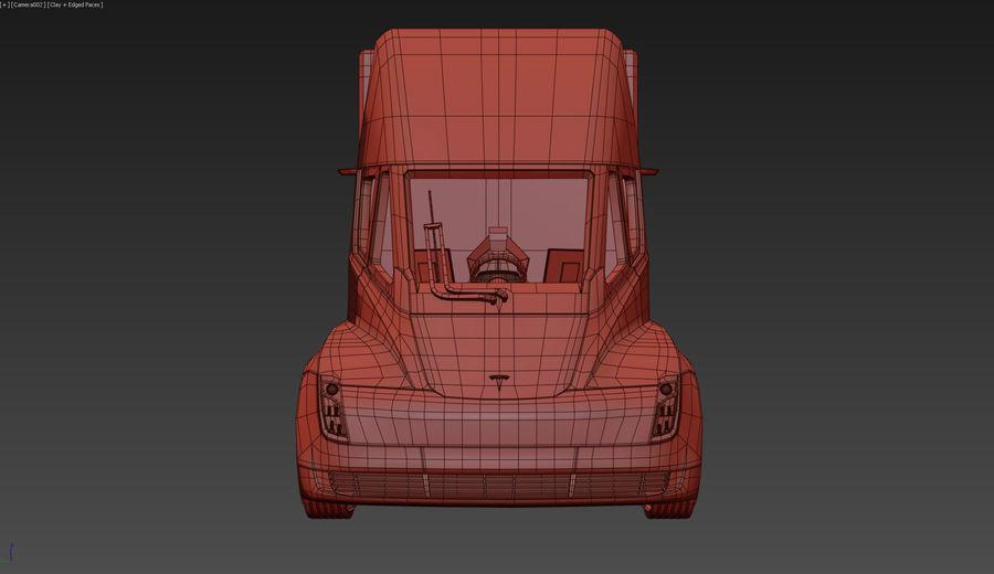 Tesla Semi Truck royalty-free 3d model - Preview no. 11