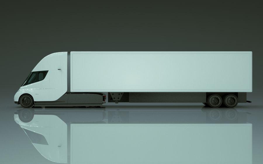 Tesla Semi Truck royalty-free 3d model - Preview no. 5