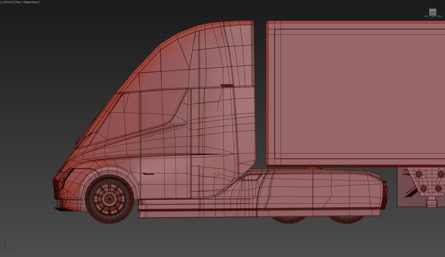 Tesla Semi Truck royalty-free 3d model - Preview no. 14