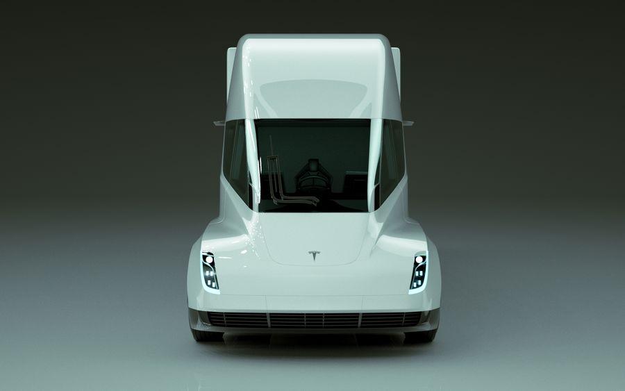 Tesla Semi Truck royalty-free 3d model - Preview no. 2