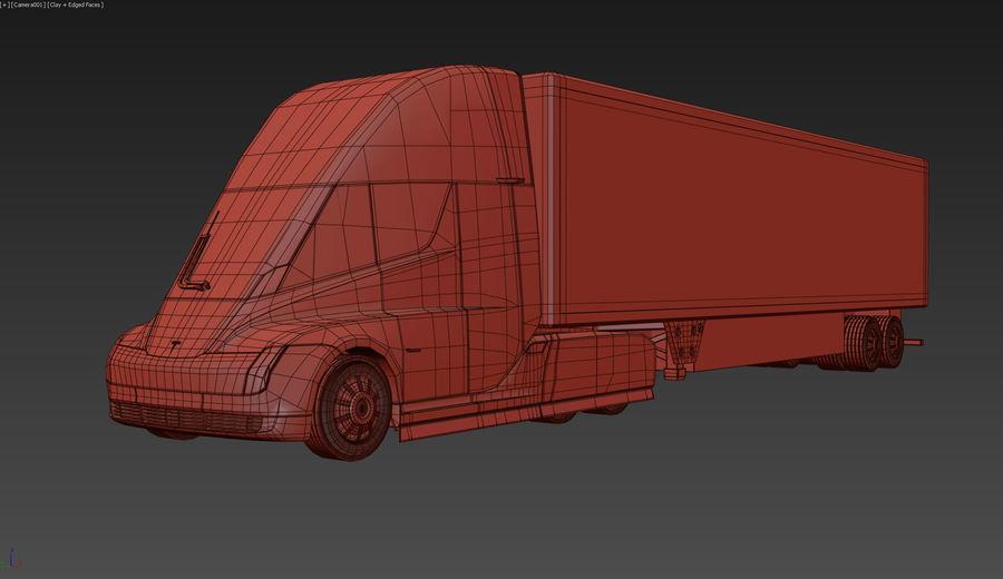 Tesla Semi Truck royalty-free 3d model - Preview no. 8