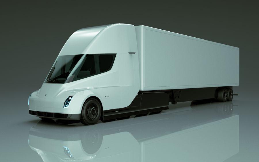 Tesla Semi Truck royalty-free 3d model - Preview no. 1