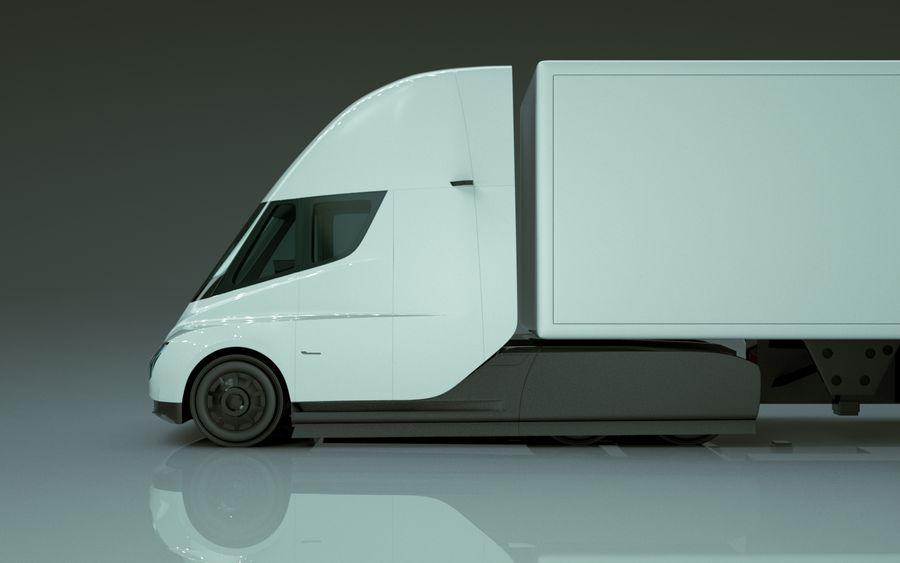 Tesla Semi Truck royalty-free 3d model - Preview no. 4
