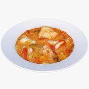 Zupa rybna 3d model