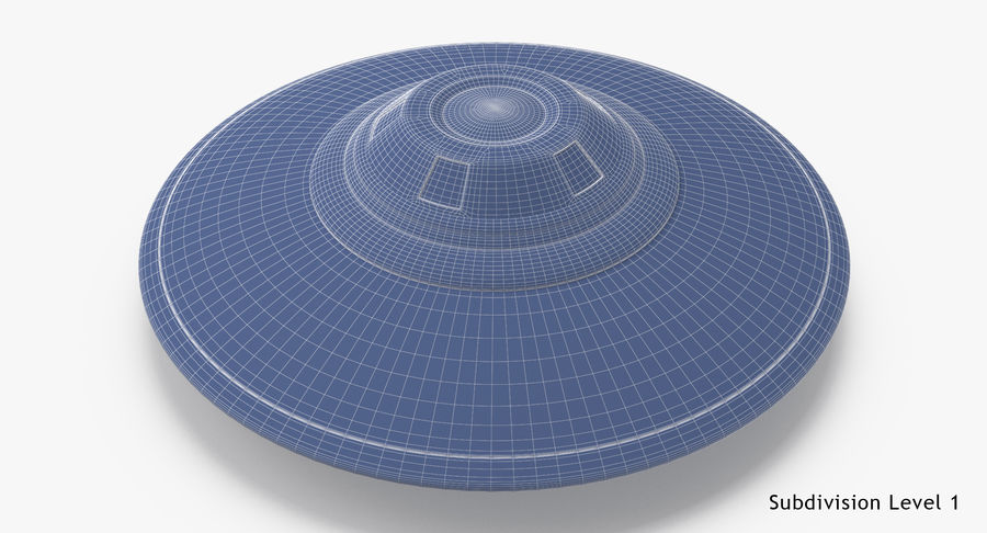 UFO royalty-free 3d model - Preview no. 20
