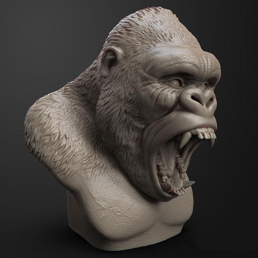 Gorilla Head Angry 3D Model $49
