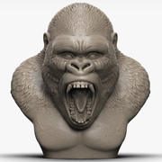 gorilla head angry 3d model