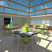 Science Classroom 3d model