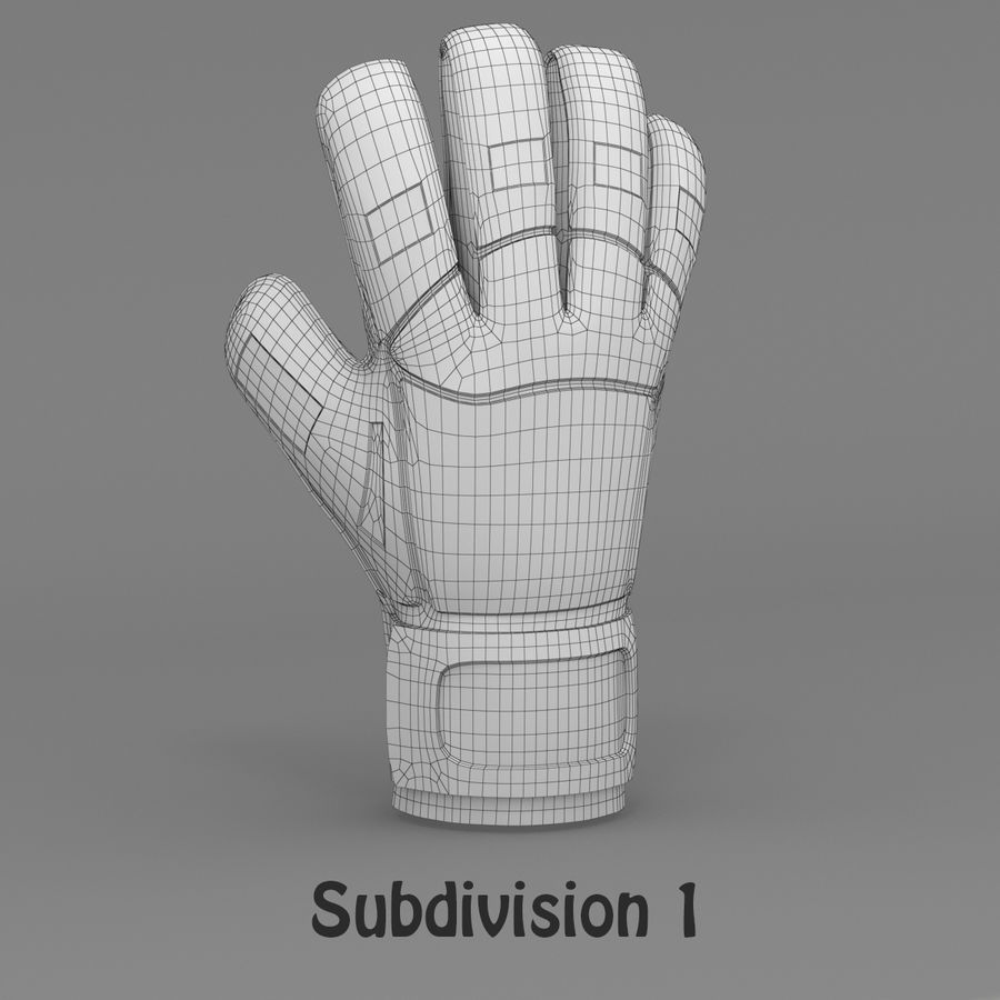 Puma V-Konstrukt II Keeper Glove royalty-free 3d model - Preview no. 12