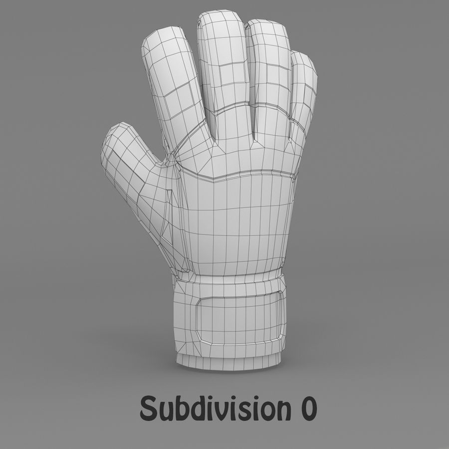 Puma V-Konstrukt II Keeper Glove royalty-free 3d model - Preview no. 11